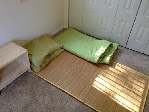 My comfortable bamboo mat